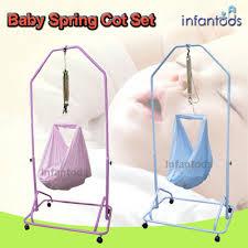qoo10 infantods spring cot set manual baby cradle hammock