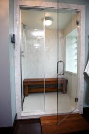 bathroom admirable single glass door frameless design with chrome
