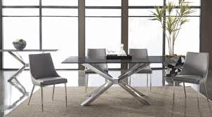 Contemporary Black Dining Chairs Console Table With Chairs Wide Seat And Sloping Back Gorgeous