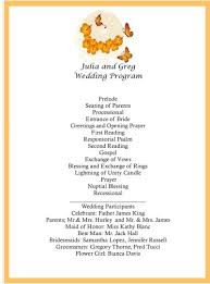 make your own wedding program image detail for wedding program butterfly wedding program