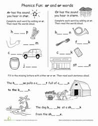 phonics fun ar and or words worksheet education com