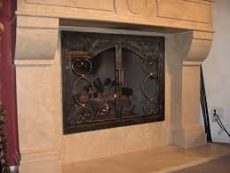 hand forged custom fireplace screens noble forge