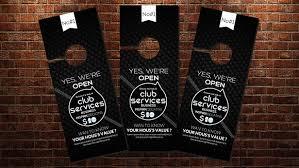 wonderful door hanger template flyer templates creative market