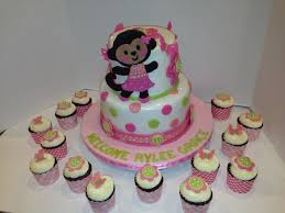 monkey baby shower cake monkey baby shower cake and cupcakes cakecentral