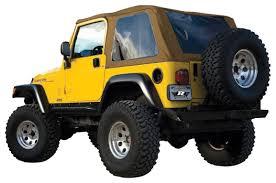 jeep soft top tan amazon com rampage jeep 109517 trail top frameless bowless tj