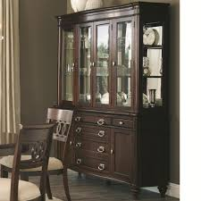 coaster alyssa 6pc dining table set in dark cognac finish for