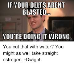 Dwight Meme Generator - if your delts arent blasted you re doing it wrong download meme