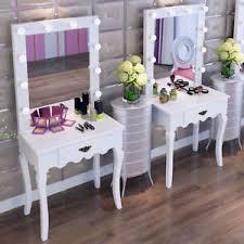vanity makeup mirror with light bulbs modern elegant vanity makeup mirror stool drawer wood dressing table