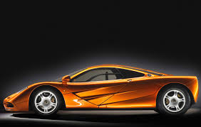 sports cars side view mclaren f1 orange side profile studio revival sports cars