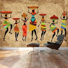 Dance Wall Murals Wall26 Large Wall Mural Abstract Art African Woman On Grunge
