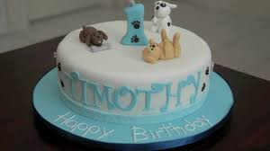 birthday cakes for dogs dog theme fondant birthday cake