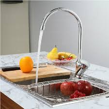1 hole kitchen faucet designed silver color rotatable 1 hole kitchen faucet