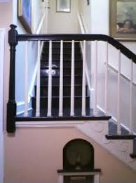 Painting A Banister Black Painting Handrails White And Spindles Black