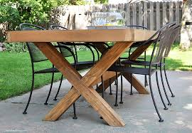 how to build a patio table diy outdoor table free plans cherished bliss