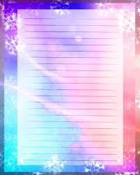 writing stationery paper printable journal page blue and pink paper instant download zoom