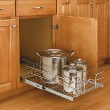 kitchen cabinet pull out storage racks 12 single pull out basket chrome 5wb1 1218cr 1 sliding