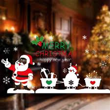 aliexpress com buy christmas decoration sticker santa claus pull