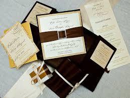 custom designed wedding invitations ornate custom wedding invitation design brown cover white