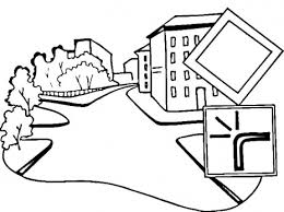 the road coloring pages for kids to print free and paint