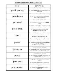 Math Worksheets For Fifth Graders Fifth Grade Words Boxfirepress