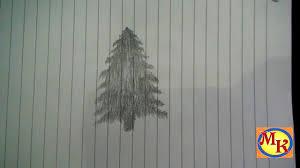 tutorial menggambar orang dengan pensil cara menggambar pohon cemara speed drawing youtube