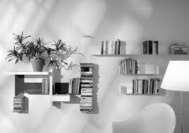 modern white shelves home design ideas