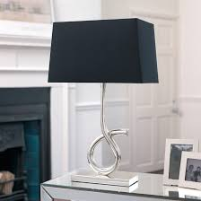 Small Table Lamp Black Black Contemporary Table Lamps With Tulip Modern Lamp By