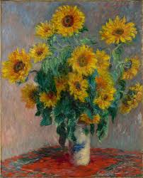 Drawings Of Flowers In A Vase Claude Monet Bouquet Of Sunflowers The Met