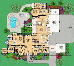 floorplan twostory european style house plans 14814 square foot