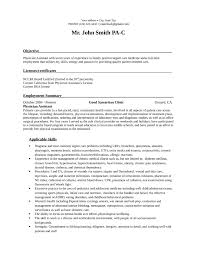Physician Assistant Resume Templates Professional Physician Assistant Resume Template