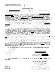 birth certificate correction sample letter sample affidavit of lost title notary public civil law common sample affidavit of lost title notary public civil law common law