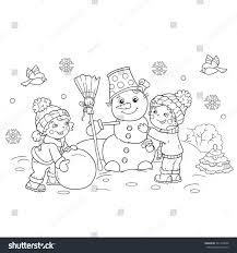 coloring page outline cartoon boy stock vector 541149658