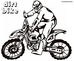 dirt bike coloring pages fierce rider dirt bike coloring