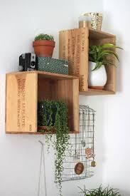 Wood Shelves For Walls by Best 25 Wine Box Shelves Ideas On Pinterest Wooden Shoe Box