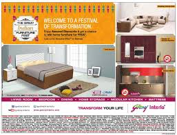 godrej interio the great indian furniture fest sale offer and