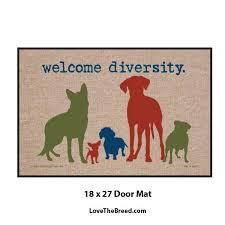 boxer dog doormat welcome diversity door mat u2013 lovethebreed com