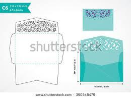 laser cut wedding invitation card template stock vector 594436193