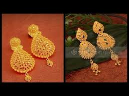 gold earrings design with weight gold earrings designs with weight agsha