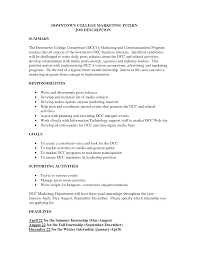 marketing intern job description best resumes