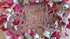 handmade glitter sparkle pastel merry rag wreath unique