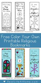 free templates for children s bookmarks free color your own printable religious bookmarks for children and