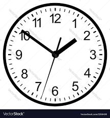 wall mounted digital clock royalty free vector image
