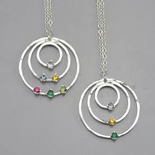 mothers necklace with birthstones mothers birthstone necklace sterling silver birthstone jewelry
