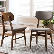 Dining Chair Design Sacramento Mid Century Walnut And Grey Fabric Dining Chairs Set