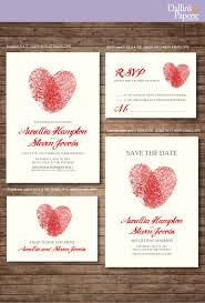 Thailand Wedding Invitation Card Wedding Invitation Printables Finger Print Heart Customized