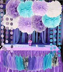 purple baby shower decorations mermaid the sea decorations purple baby blue