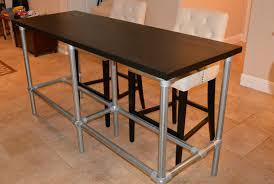 Pipe Desk Diy Diy Counter Height Table With Pipe Legs Simplified Building