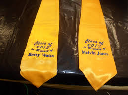 personalized graduation stoles graduation stole or sash embroidery in houston instant