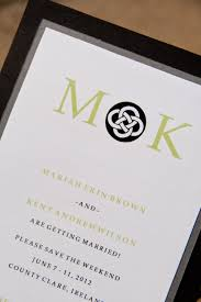 wedding invite return address celtic knot wedding save the date invitation monogram set of 50 by