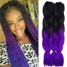 grey marley braiding hair marley braid hair two tone purple grey blue black ombre kanekalon